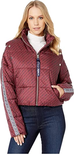 JXJC Repeat Snap Off Sleeve Puffer Jacket