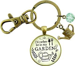 Gutsy Goodness Llavero de jardinería con frase en inglés «I'd Rather Be In My Garden»