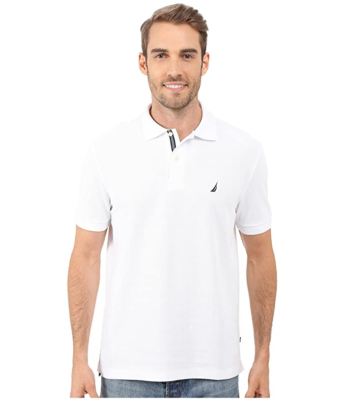 Nautica S S Solid Polo With Tape