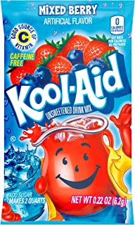 Kool-Aid Mixed Berry Flavored Unsweetened Caffeine Free Powdered Drink Mix (192 Packets)
