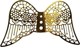 60mm Miniature Gold Metal Filigree Angel Wings (Pack of 12)