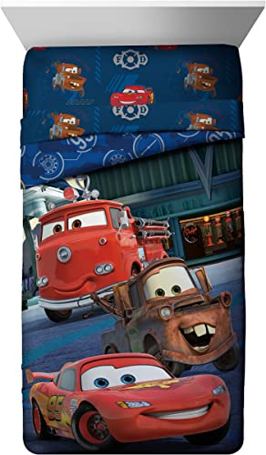 Disney Pixar Cars Friends To The Finish Blau 76,2 137,2  Slumber Bag mit Lightning McQueen & Mater (Offizielle Disney Pixar Produkt), Hometown Comforter, Twin