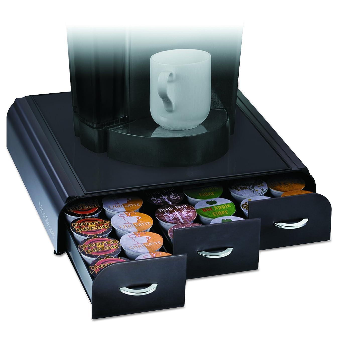 Mind Reader 'Anchor' Triple Drawer K-Cup Dolce Gusto, CBTL, Verismo Single Serve Coffee Pod Holder, Black