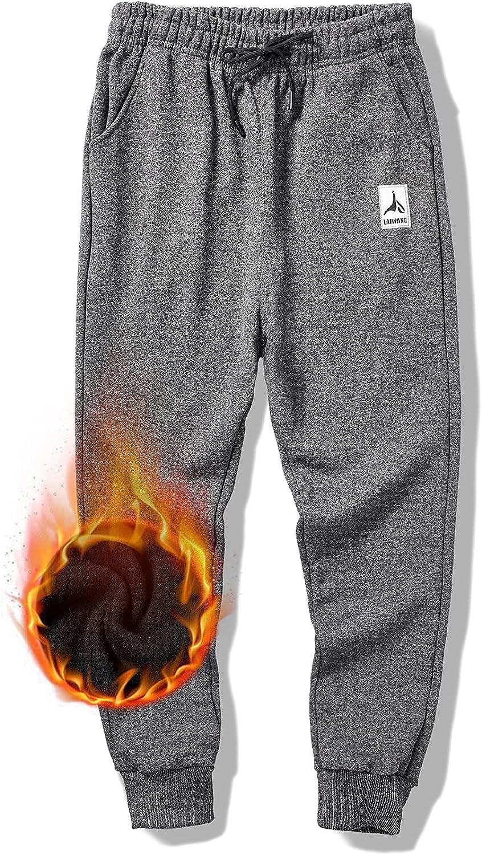 Daily bargain sale LAIWANG Men's Warm Lined Athletic New product Fleece Pants Jogger Sweatpants