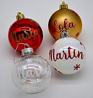 Bolas de Navidad personalizadas para árbol. Adornos navideños originales.