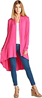 Women's S-5XL Long Duster Maxi Casual Soft Bamboo Cardigan Sweater - Made in USA