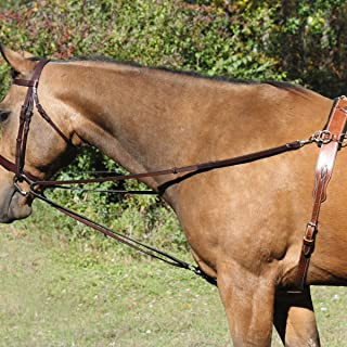 NEW Brown Nylon Side Training Reins w// Red Rubber Donut NEW