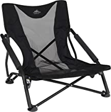 Cascade Mountain Tech Compact Low Profile Outdoor Folding Camp Chair with Carry Case