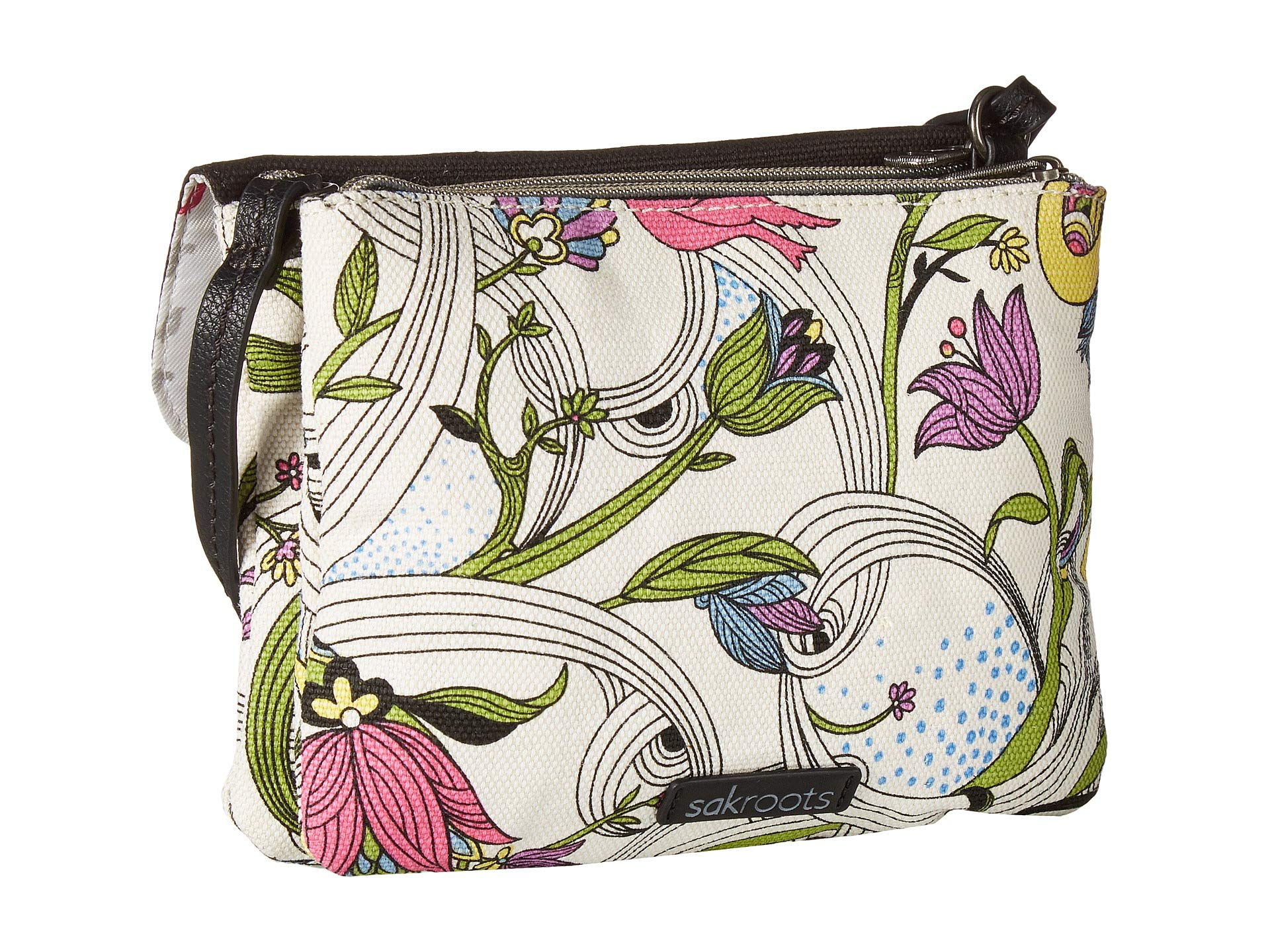 Sakroots Double Gusset Peace White Crossbody Dove Austen r5gwBqr
