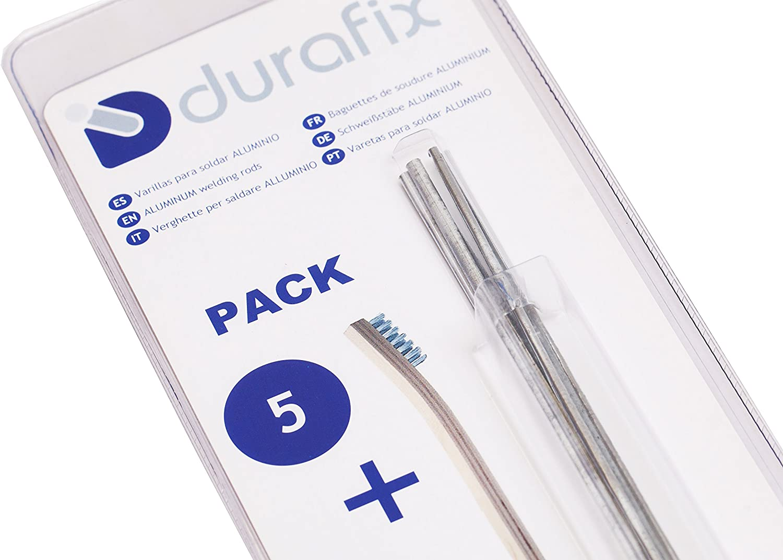 DURAFIX® Varillas para soldar aluminio con 1 cepillo de alambre inoxidable Pack de 5