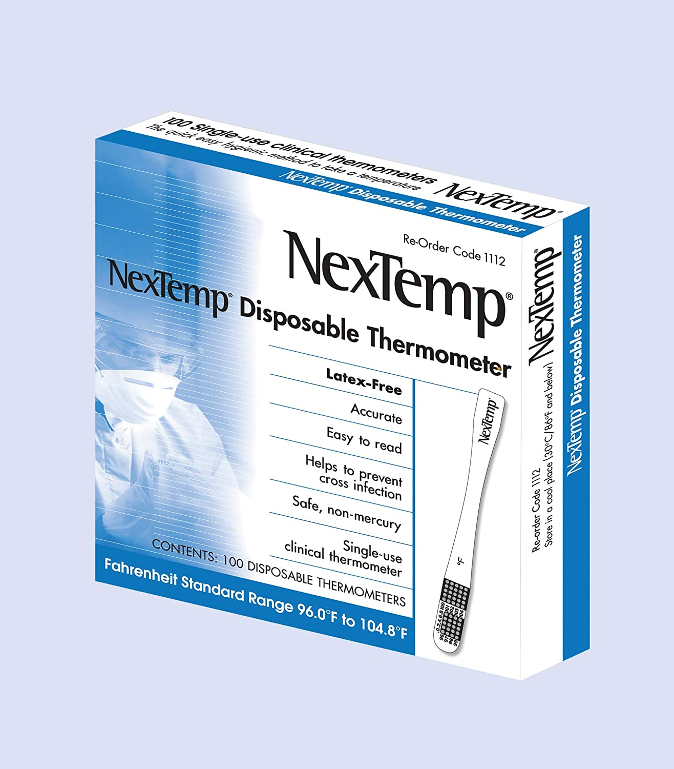 El Paso Mall NexTemp Basic 100 Pack - Single-Use Thermometer Fahrenheit In Sale SALE% OFF