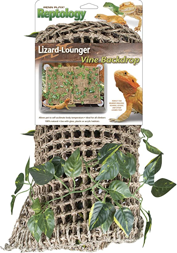 Penn Plax Reptology Lizard Lounger with Vines for Bearded Dragons, Iguanas, and Other Reptiles