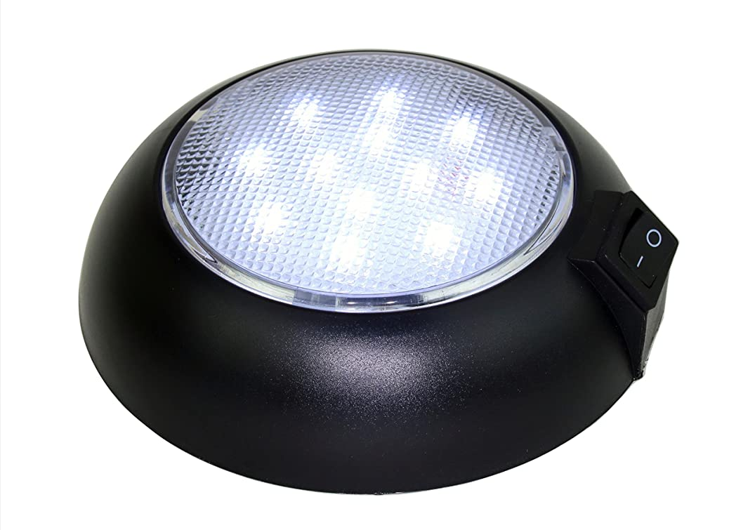 Battery Powered LED Dome Light - Magnetic or Fixed Mount - High Power Cool White LED Downlight for Home, Auto, Truck, RV, Boat and Aircraft