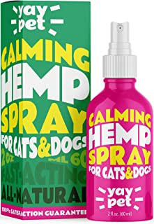YAY PET Calming Spray for Cats and Dogs with Pheromones & Natural Herbs - Reduce Anxiety, Relax. Vet Visits, Travel, Thund...