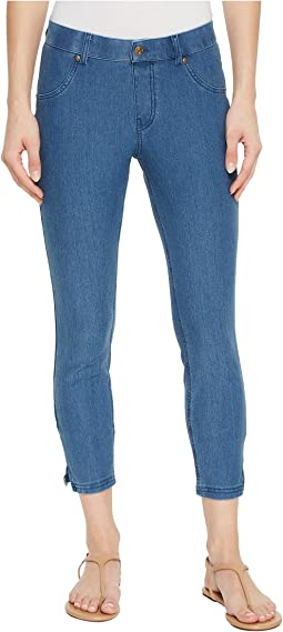 HUE Ankle Slit Essential Denim Capris