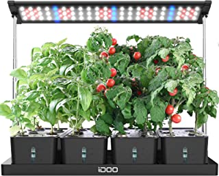 iDOO 20Pods Indoor Herb Garden, LED Grow Light for Indoor Herb Planter with Customize Timer, 4pcs Removable Water Tanks fo...