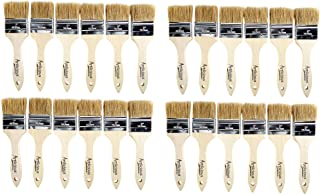Artlicious - Pure Hog Bristle Chip Paint Brushes Super Pack (2 inch - 24 Pack)