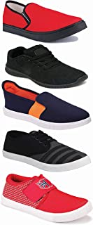 WORLD WEAR FOOTWEAR Sports Running Shoes/Casual/Sneakers/Loafers Shoes for Men Multicolor (Combo-(5)-1219-1221-1140-383-725)