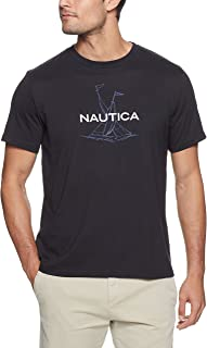 Nautica Men's Short Sleeve Anchor Flag Graphic T-Shirt