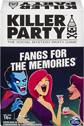 Spin Master Games Killer Party - Fangs for The Memories, The Social Mystery Party Game for Ages 16 and Up