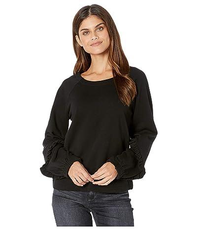 kensie Cozy Fleece Sweatshirt KS9K3819 (Black) Women