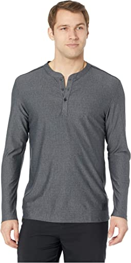 Adicross Mesh Stripe Long Sleeve Henley