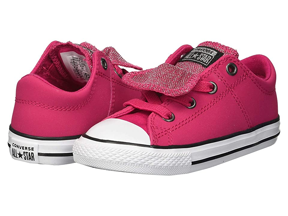 Converse Kids Chuck Taylor All Star Maddie Ox (Infant/Toddler) (Pink Pop/Black/White) Girl