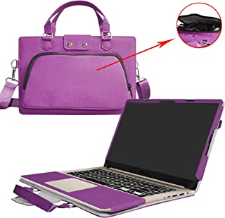 ASUS S510 S510UA F510UA X510UQ Case,2 in 1 Accurately Designed Protective PU Leather Cover + Portable Carrying Bag for 15.6