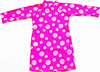 Ao Dai, Vietnamese Traditional Dress for Children - Pink Ao Dai with White Pants/Size#6