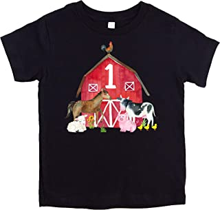 farm first birthday shirt