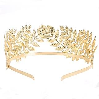 RIVERTREE Greek Goddess Headband Costumes Gold Leaf Branch Crown Hair Accessory Bridal Wedding Headpiece