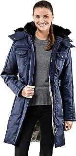 comprar comparacion Vincenzo Boretti chaquetón Invierno de Mujer, Acolchado Caliente para temperaturas bajo Cero, Ribete de Piel sintética en ...