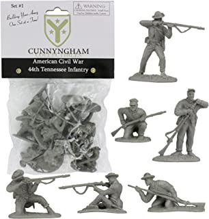Cunnyngham Collectibles CC Civil WAR Confederate Plastic Soldiers - 44th Tennessee 12 Gray 1:32 Figures