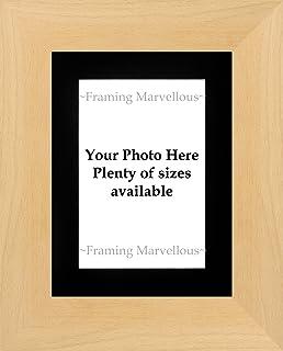Enmarcar maravilloso marco de imagen de fotos de madera de haya Real–elegir tamaño, madera, BLACK MOUNT, 6x4