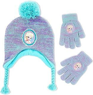 Disney Frozen Elsa Hat and Gloves Cold Weather Set, Little Girls, Age 4-7