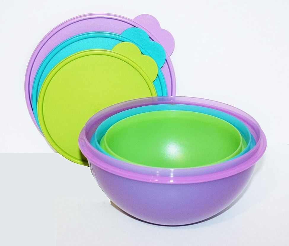 ビデオメアリアンジョーンズ津波(Large) - Tupperware Wonderlier Bowl Set 7.6cm New Colours