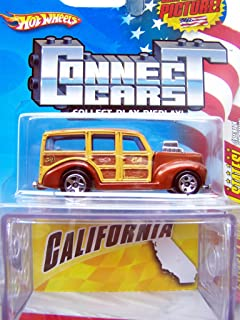 Hotwheels Connect Cars: Collect All 50 States #31 of 50 California '40's Woodie