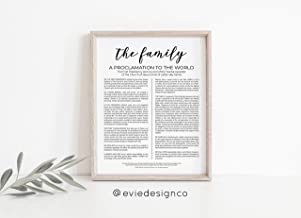 Arvier The Family A Proclamation to The World LDS Print Framed Wall Art
