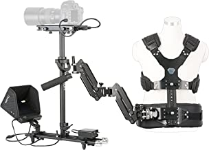 Movo X100 Ultimate Steadycam System Bundle - Includes Handheld Video Stabilizer, Vest with Dual Articulating Arm, LCD Field Monitor and Deluxe Carrying Case