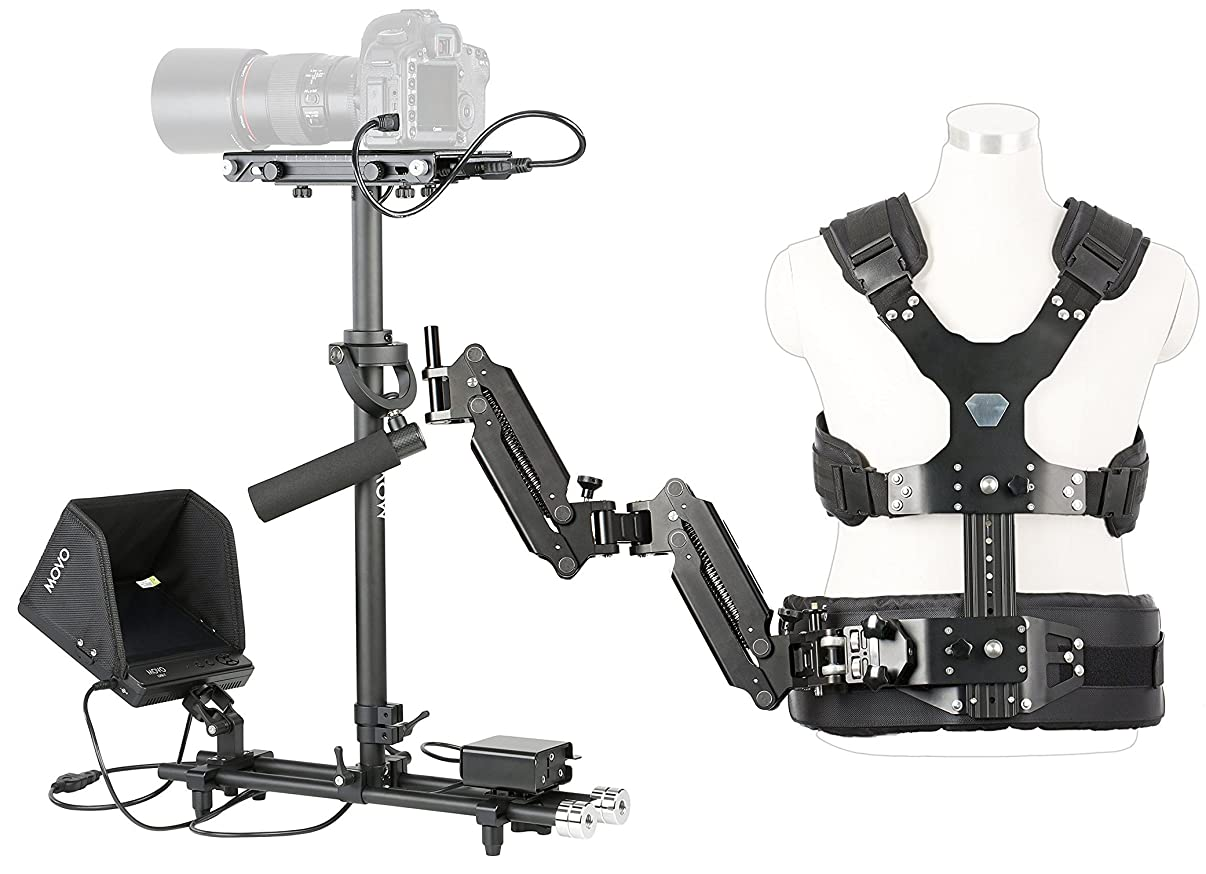 Movo X100 Ultimate Steadycam System Bundle - Includes Handheld Video Stabilizer, Vest with Dual Articulating Arm, LCD Field Monitor & Deluxe Carrying Case