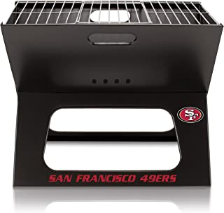 NFL San Francisco 49ers Portable Collapsible Charcoal X-Grill
