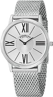 Stuhrling Original Men's 533M.33112 Classic Ascot Solei Elite Swiss Quartz Mesh Bracelet Silver Dial Watch
