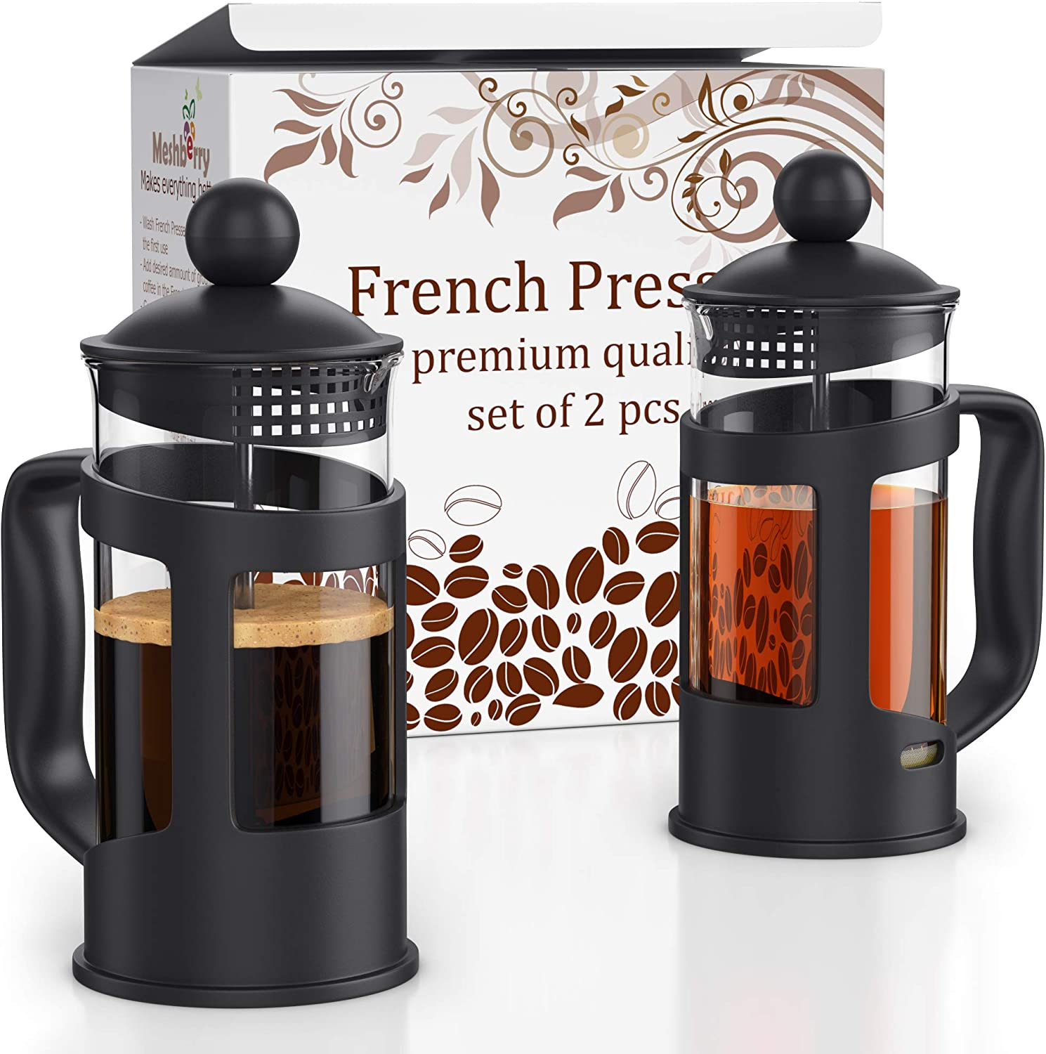 French Press Coffee Maker - online shopping Set Save money of Gift 2 12oz pcs Box 350m in