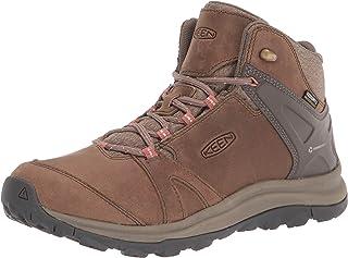 حذاء المشي لمسافات طويلة للنساء Terradora 2 متوسط الارتفاع من الجلد المقاوم للماء من KEEN