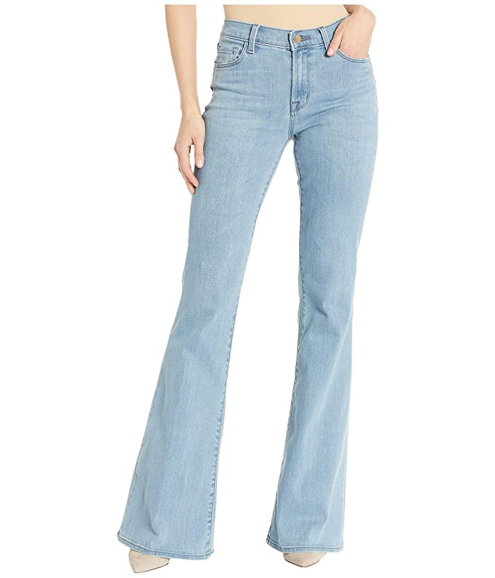 Vintage High Waisted Trousers, Sailor Pants, Jeans J Brand Valentina High-Rise Flare in Decadence Decadence Womens Jeans $192.45 AT vintagedancer.com
