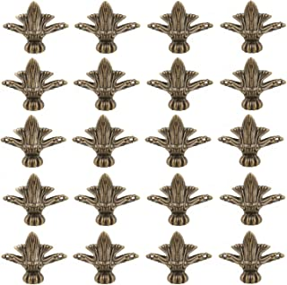 DD-life Antique Vintage Box Decorative Feet Leg Corner Protector with Mounting Screws (Pack of 20)