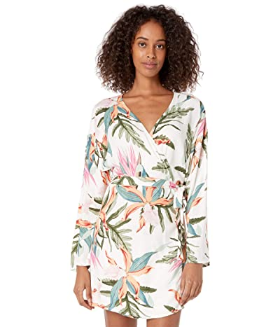 Hurley Tama Wrap Long Sleeve Dress (Pink Glow) Women