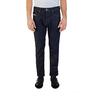 Diesel Men's Slim-Carrot Fit Tepphar R46D8 Stretch Jean Pants Dark Blue