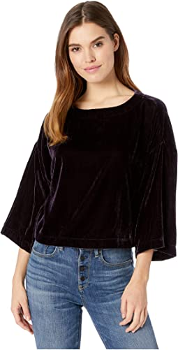 Christel Dolman Sleeve Velvet Top