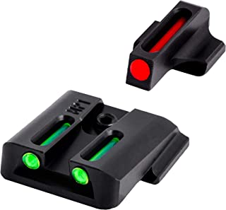 TRUGLO Fiber-Optic Front and Rear Handgun Sights (Including Shield and .22 Models, excluding .22 Compact, C.O.R.E. Models, and Shield 380 EZ), SD9 and SD40 ) (Renewed)